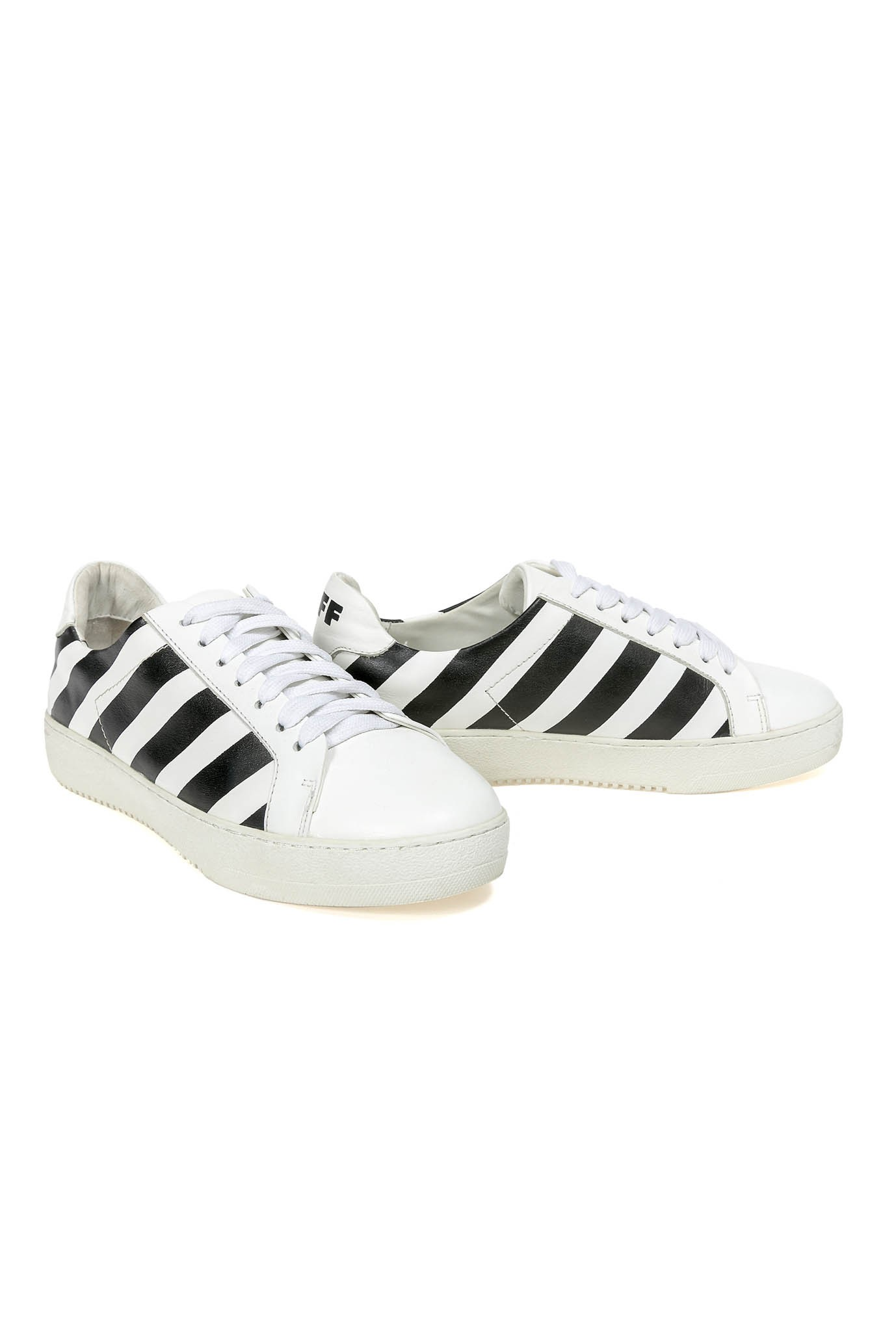 8799710355b4 White and Black Sneakers BLACK STRIPE - Shoes On Sale - Shoes