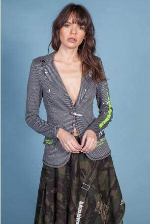 Gray Blazer Jacket STRONG