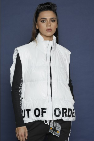 Decorated White  Vest OUT OF ORDER