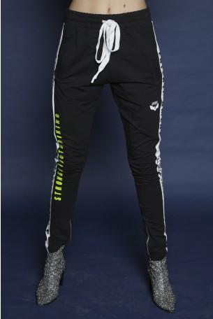 Black Jogger Pants Side Stripe ORIGINAL