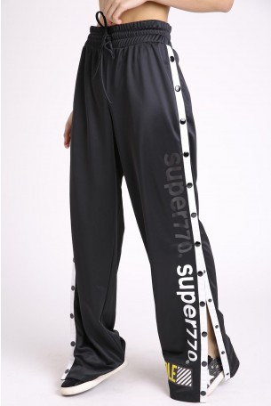 Black Button Up  Joggers  SUPER 770