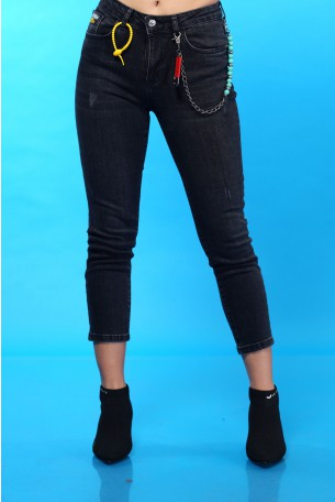 Skinny Black Denim Pants SEVEN