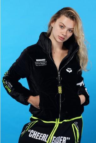 Black Velvet Coat Jacket BACK PACK