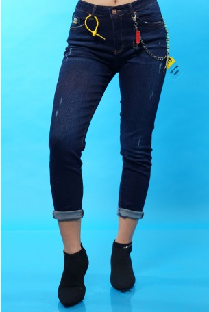 Skinny Dark Blue Denim Pants SEVEN