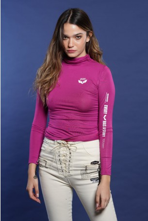 Pink Turtleneck Top SEVEN