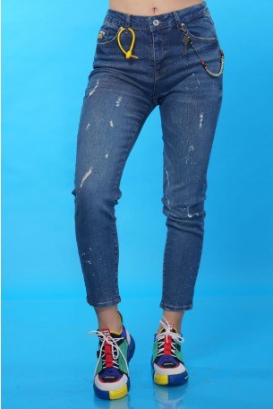 Skinny Whashed  Blue Denim Pants SEVEN