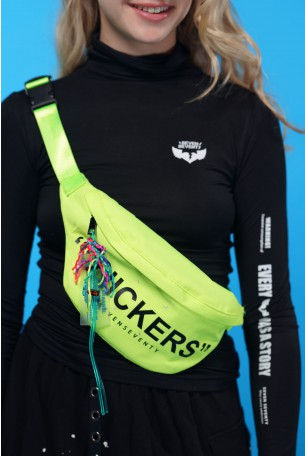 Waist Pouch Designed Neon Yellow  SNICKERS