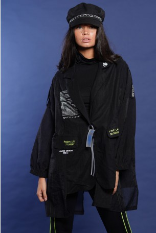 Black Blazer Jacket Shirt UNIFORM