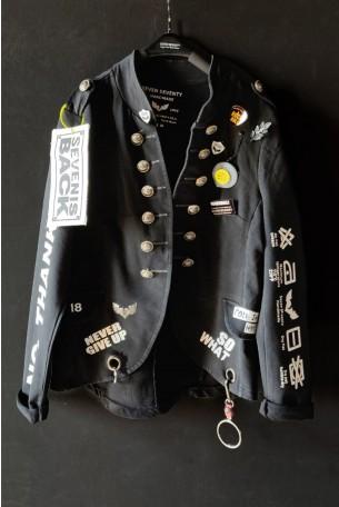 One of a Kind Black Blazer Jacket BELIEVE