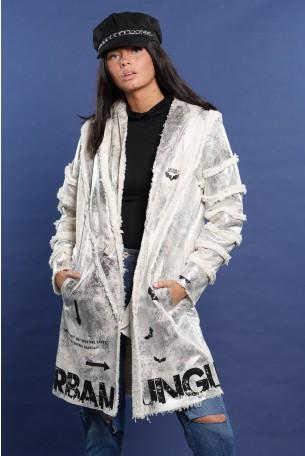 Silver Cotton Fur Long Coat JUNGLE