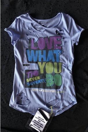 Light Blue Limited Edition T Shirt LOVE