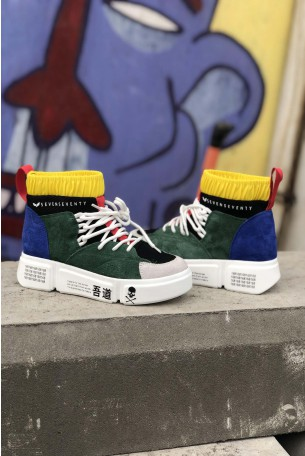 High Top Multicolor Sneakers COLOR SKULL