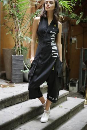 Black Designed Overall AIN'T