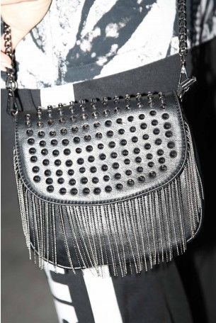 Cross Body Black Studs Bag DANCE