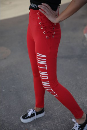 Designed Red Pants AIN'T