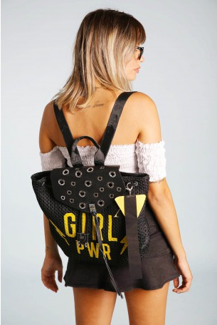 Original Black Netted Back Pack  GIRL PWR
