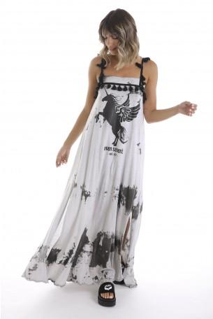 Washed Gray Maxi Dress UNICORN