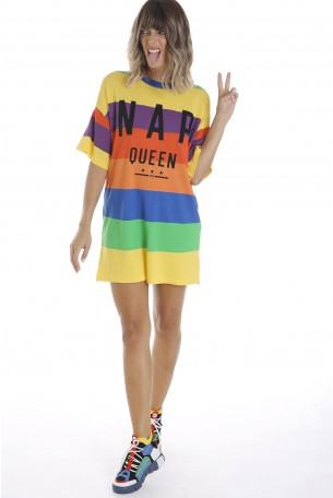 Multicolor Printed Dress Tunic QUEEN