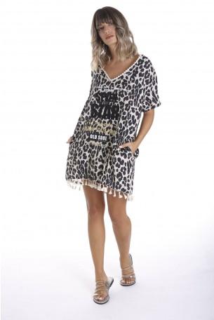 Leopard Printed Dress Tunic STAR