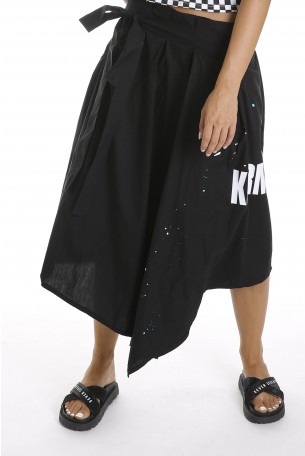 Black Asymmetric Skirt KARMA