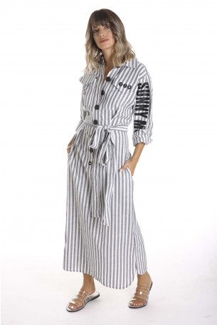 Stripes Maxi Designed  Dress SUNNY