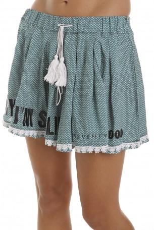 Green Designed Mini Skirt SPARKLING