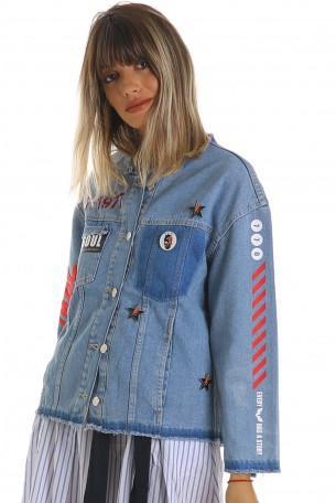 Decorated Printed  Denim Jacket ORIGINAL