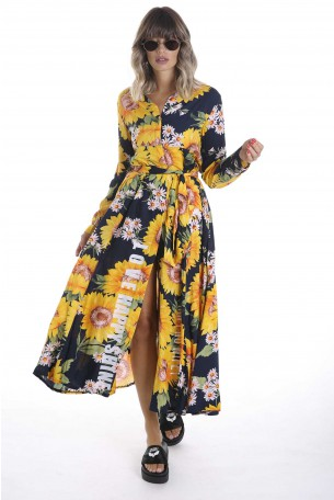 Sunflower Maxi Designed Dress SHINE