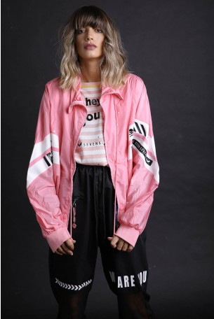 Wide Pink Wind Coat  FEEL