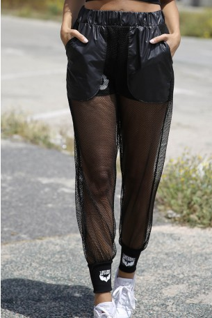 Black Netted Pants WOW
