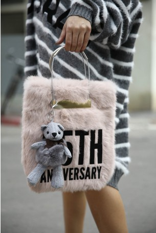 Pink Fur Bag 25TH