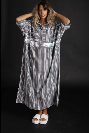 Stripes Maxi Designed Galabia Dress GOOD THINGS