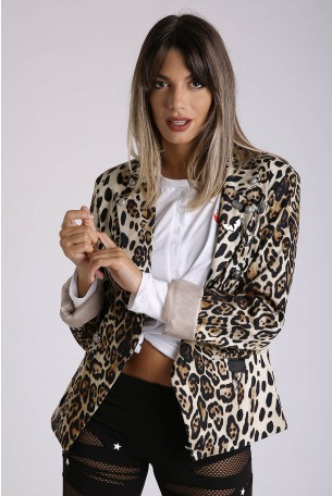 Decorated Leopard Blazer Jacket  TIGER