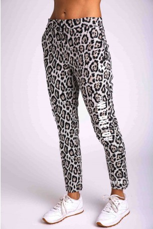 Brown Leopard Designed Pants YOU