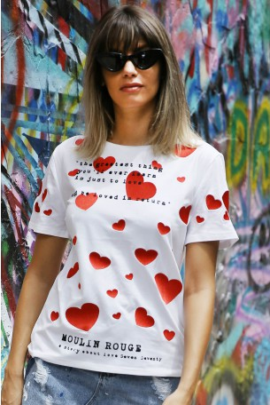 White Hearts Top MOULIN