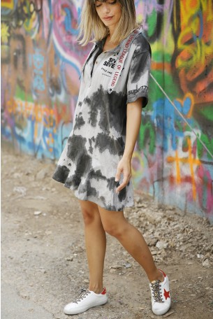 Washed Gray Mini Dress LEAGUE