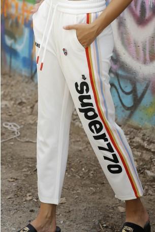 Designed White Jogger Pants STYLE