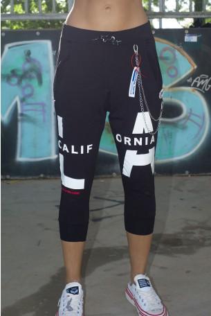 Black Knee Cut Pants LA