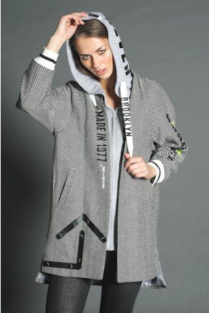 Grey Long Jacket-Coat BROOKLYN