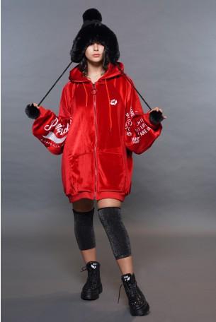 Red Velvet Zipper Jacket ORIGINAL