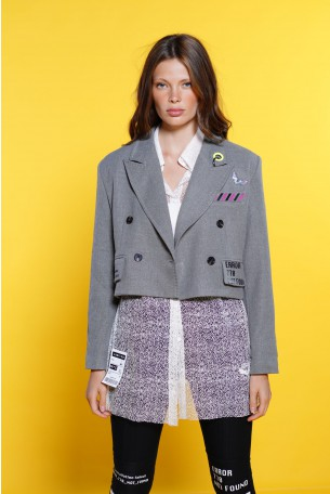 Grey Blazer Jacket HUMAN