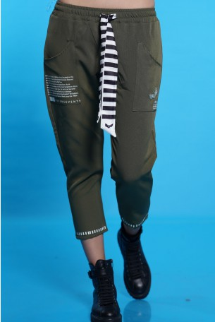 Olive Color Pants SEVEN