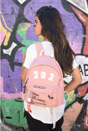 Pink  Cotton  Backpack ERROR