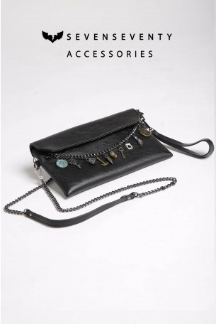 Cross Body Black  Bag CHARMS