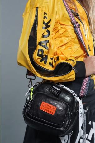 Black Color Handmade Unique Bag WARNING