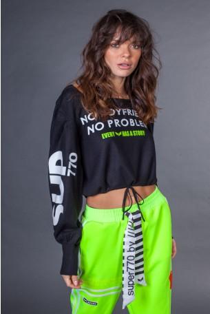 Black Color Knit Shirt  BOYFRIEND