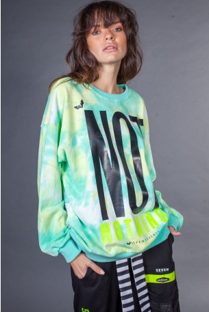 Green and Yellow Tie Dye Pullover Shirt NOT