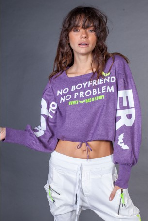Purple Color Knit Shirt  BOYFRIEND