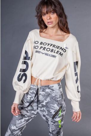 Ivory Color Knit Shirt  BOYFRIEND