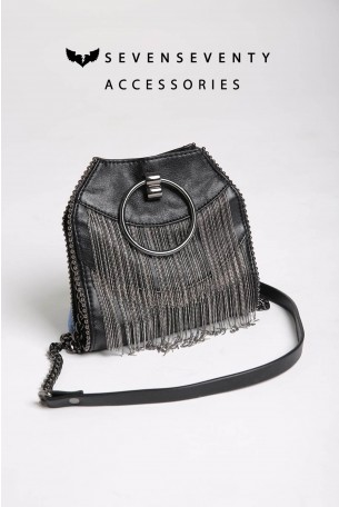 Cross Body Black Fringe Bag CHIC